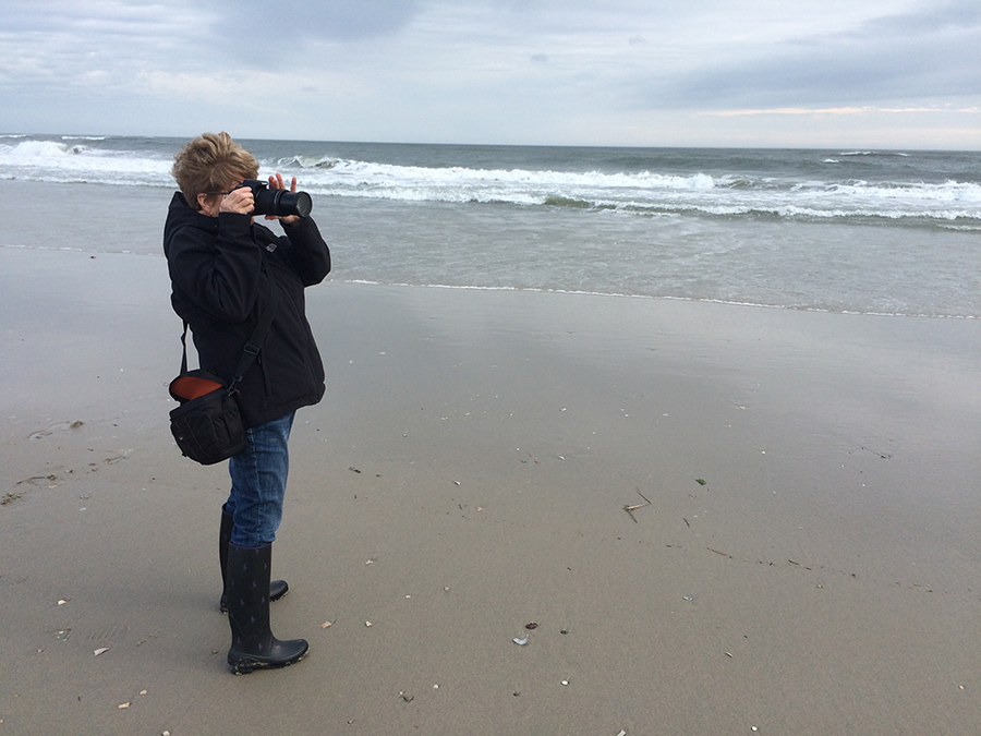 Photographing down the shore