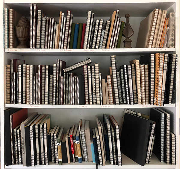 Image of sketchbooks