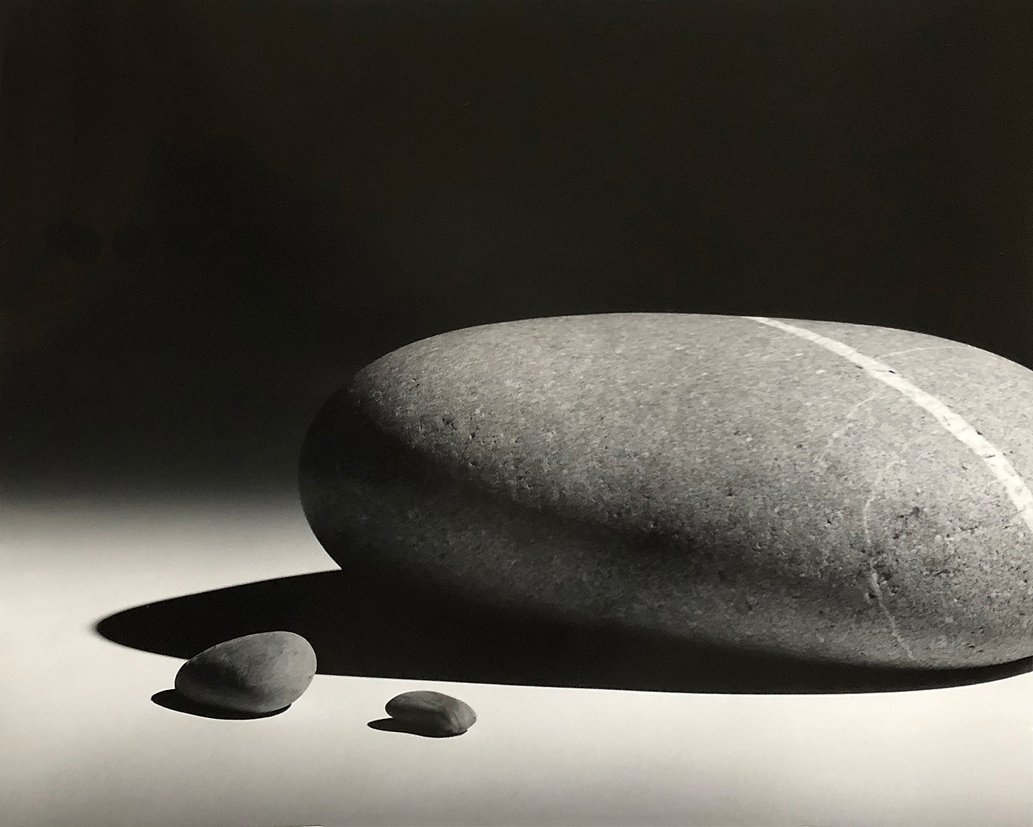 B&W photo of three rocks
