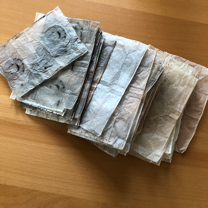 Image of tea bag papers