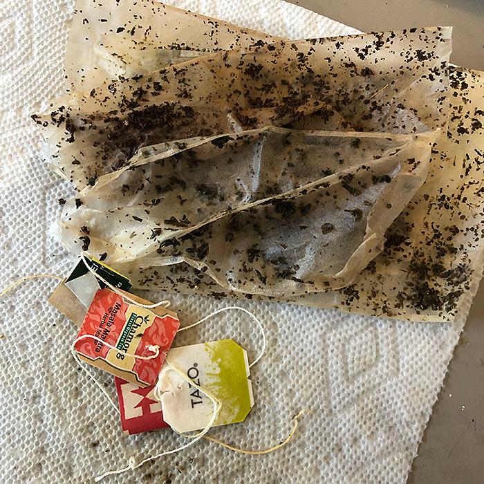 Image of empty tea bag papers