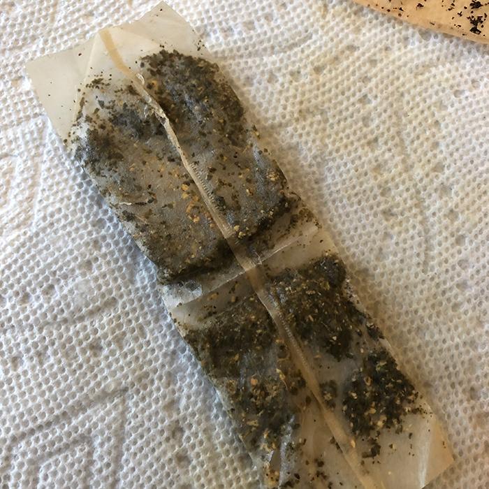 Image of unfolded tea bag