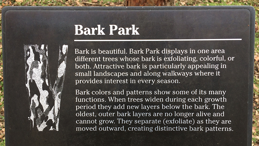 Image of Bark Park sign