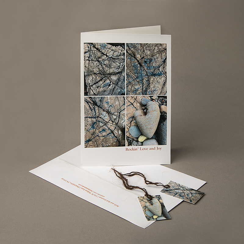 Image of Holiday Card with patterns on beach stones from Elgol, Isle of Skye, Scotland