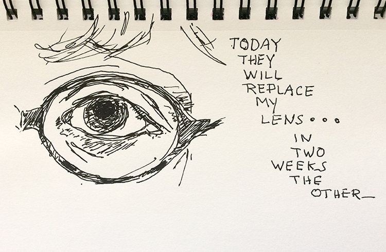 sketch of my left eye.
