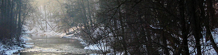Wissahickon with snow