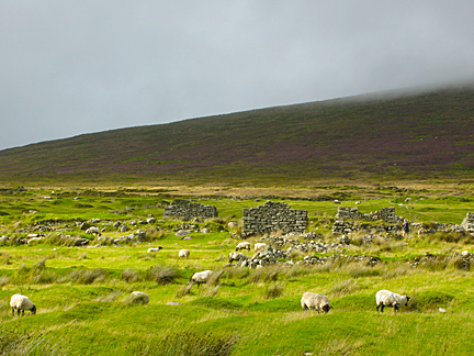 Deserted Village on Achill  Island, Ireland
