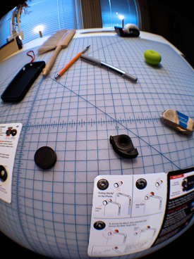 Desk top with Fisheye lens