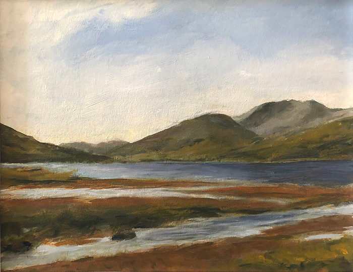 Image of River and mountains, Co. Mayo