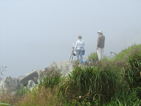 Plein Air in the mist