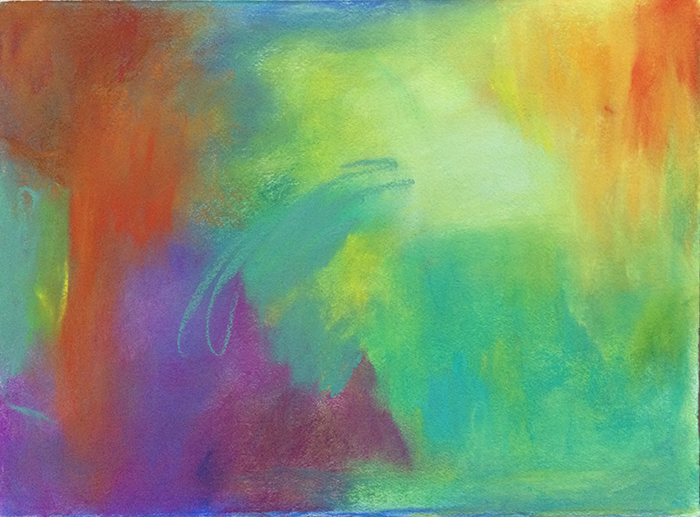 image of work in pastel