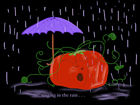 10.15: Singing in the rain.