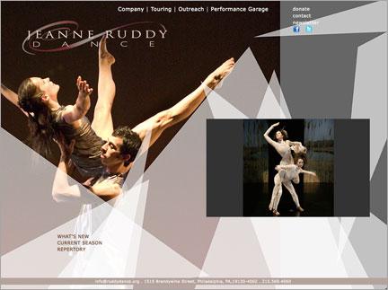 image of new Jeanne Ruddy Dance Web Site