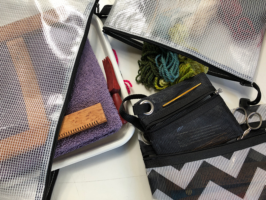 Image of a weaving studio in a bag
